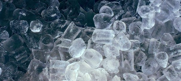 Ice in an ice machine